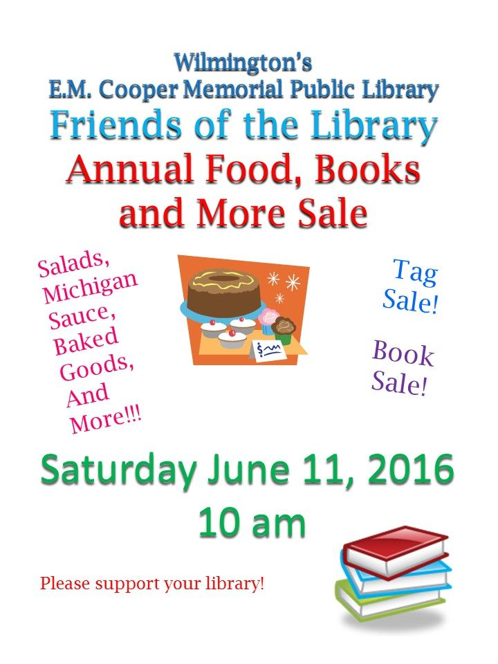 2016 friends annual food and yard sale